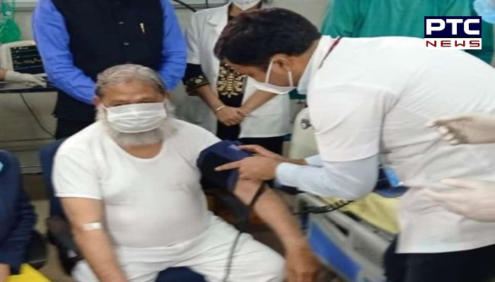 Haryana Health Minister Anil Vij gets trial dose of COVID-19 vaccine Covaxin