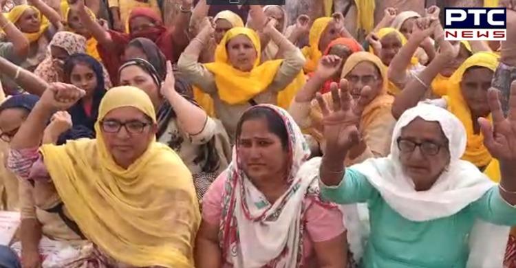 Farmers Chakka Jam at barnala against Agriculture laws 2020