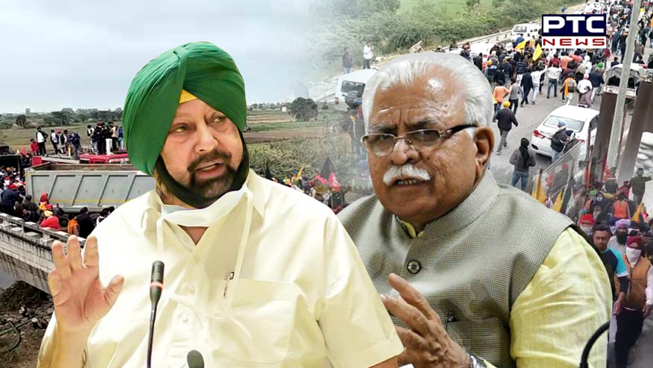 Dilli Chalo Agitation, Farmers Protest: Punjab CM Captain Amarinder Singh, Haryana CM Manohar Lal Khattar engaged in a Twitter war.