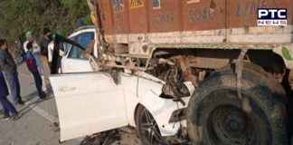 Car and Truck between collision on Bathinda-Chandigarh road, Three killed