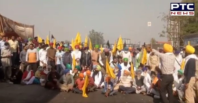 Chakka Jam at Cholang Toll Plaza by Doaba Farmers Committee against Agriculture laws 2020