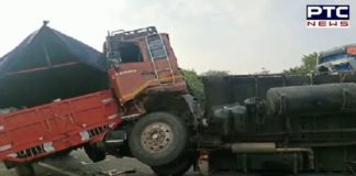 Dilli Chalo: Tractor carrying farmers meet with a road accident in Fatehabad