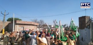 30 Farmers' Organizations Protest March In Villages Punjab For Delhi on 26-27 November
