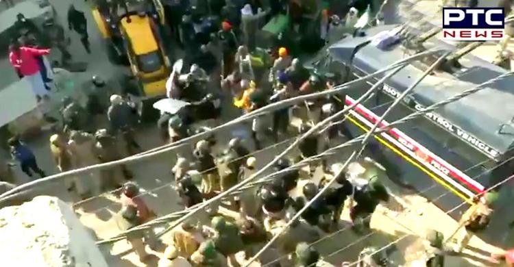 Dilli Chalo agitation: Clashes erupt at the Singhu border in Delhi while farmers granted entry into Delhi to protest at Burari maidan.