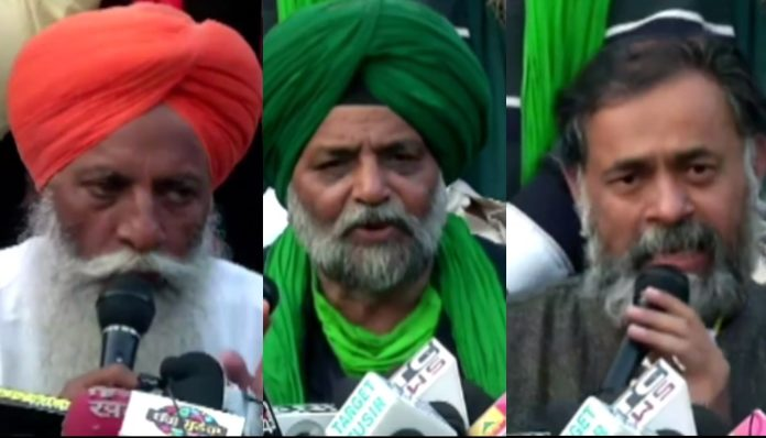 Farmers Protest Singhu border against the Central Government's Farm laws 2020