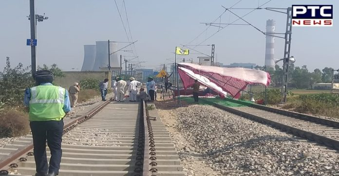 Farmers Protest Railway tracks , dharna end from the thermal railway tracks