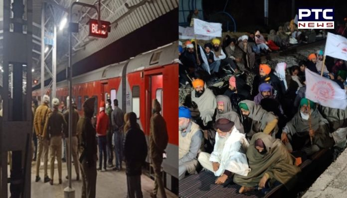 Farmers Protest on Jandiala Guru railway track, Golden Temple Mail from Mumbai Beas Stop