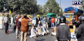 Farmers Protest In Delhi : Farmers Ptotest near Gurdwara Guru Majnu Ka Tila in Delhi