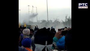 Farmers break police barricades at Sambhu border , Haryana police Water cannon on farmers