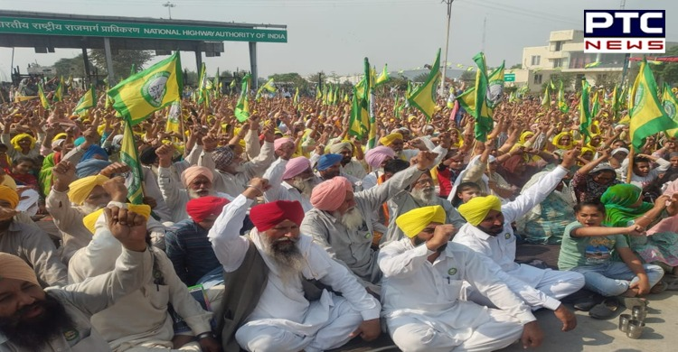 Farmers Chandigarh-Bathinda Highway Chakka Jam against Agriculture laws 2020
