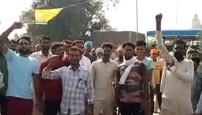 Stubble Burning in Village