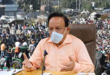 Wear masks and follow social distancing: Dr. Harsh Vardhan on farmers protest