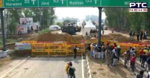 Haryana police uses stones and fencing wires to stop Punjab farmers