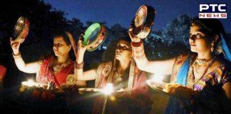 Karwa Chauth 2020 : moon Argh Woman opened Karwa Chauth Vrat ,Moon mahai daedar
