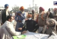 Medical check-up camp setup at Singhu Border farmers protesting