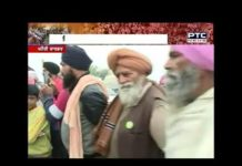 Monthly ration brought by farmers at Khanauri border