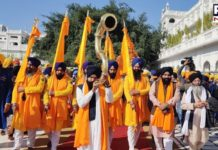 Nagar Kirtan dedicated to the 551st birth anniversary of Guru Nanak Dev ji