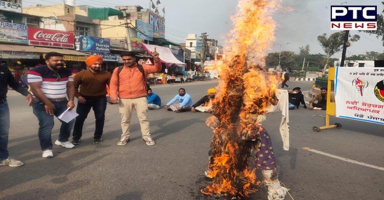 Unemployed PTI Teachers Union Punjab protest in Sangrur
