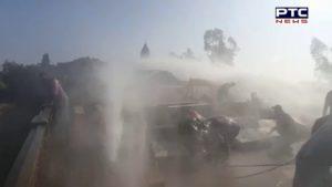 Farmers Protest In Delhi : Farmers Break Police barricades At the Pehowa border