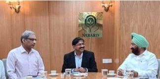 Punjab seeks Rs. 1000 crore from NABARD for giving fillip to Cooperative institutions