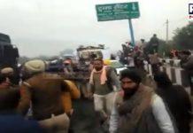 Ambala: Haryana Police uses water cannon as farmers break barricades