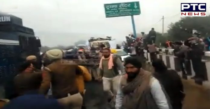 Ambala: Haryana Police uses water cannon as farmers break barricades