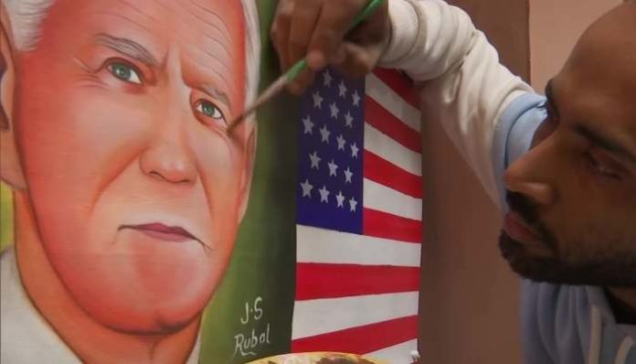 Painting of US President