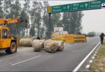 Haryana administration stopped Punjab farmers at the Punjab-Haryana border