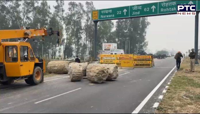 Haryana administration stopped Punjab farmers at the Punjab-Haryana border