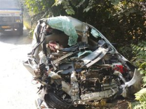 Husband and wife killed and two children injured Road accident Near Adampur