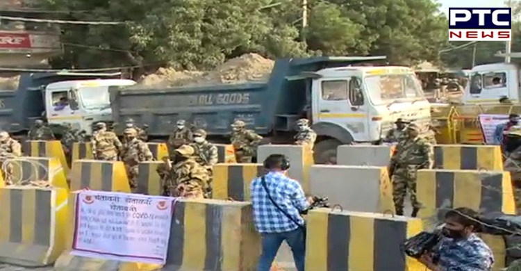 Farmers protest, Dilli Chalo agitation: Heavy security at the Singhu border in Delhi as all the arrangements made by Haryana police failed.