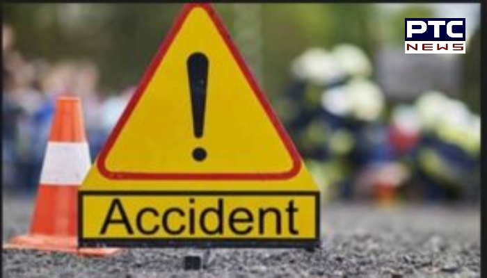 Stray cattle due Road Accident in Batala ,One killed