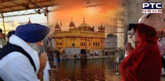 Amritsar: Sukhbir Badal, Harsimrat Kaur pay obeisance at Sri Harmandir Sahib