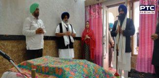 Sukhbir Singh Badal and Harsimrat Kaur Badal at Sachkhand Sri Darbar Sahib Amritsar