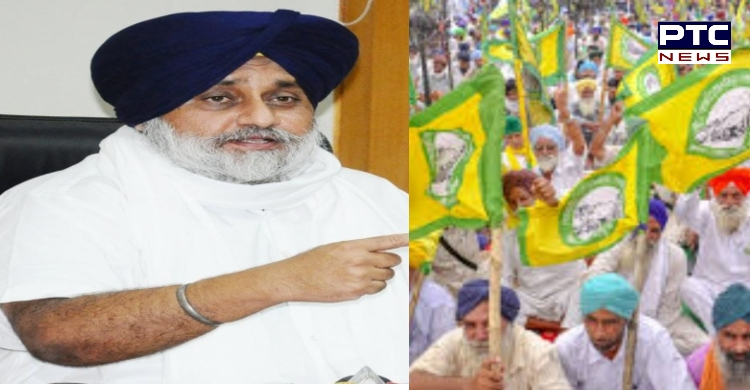 Sukhbir lashes out against denial of democratic rights to farmers