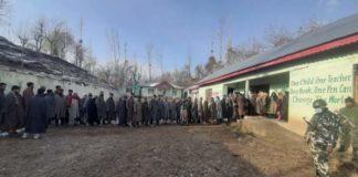 Voting in Jammu Kashmir