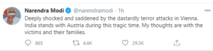 PM Modi tweets condolences