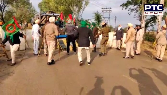 Punjab farmers break first barricade placed by Haryana Police, march towards Delhi