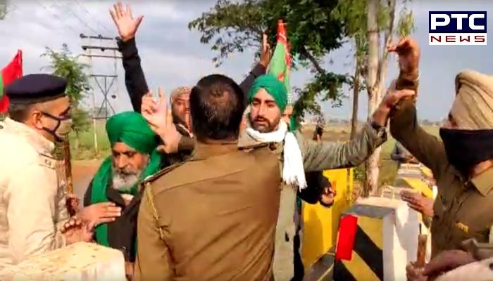 Punjab Farmers break Barricades in Azimgarh: Farmers in huge numbers heading towards Delhi | 'Dilli Chalo' agitation against farm laws 2020.
