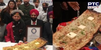 World record by making the world's largest Amritsari Kulcha