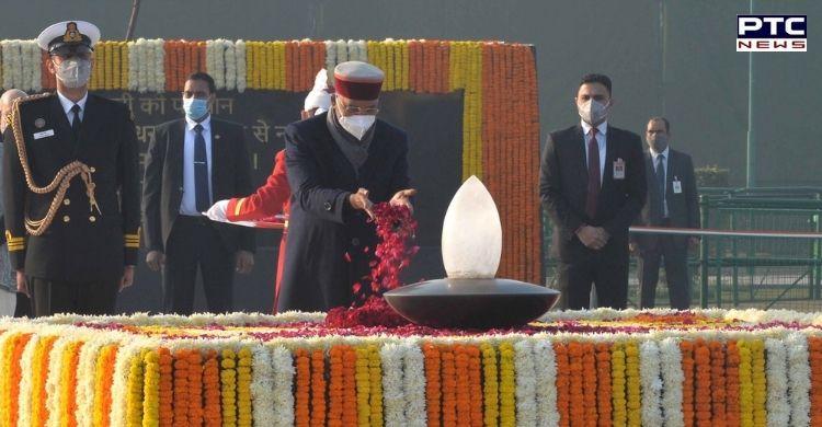President Ram Nath Kovind and PM Narendra Modi paid tributes to former PM Atal Bihari Vajpayee at Sadaiv Atal on his 96th birth anniversary.