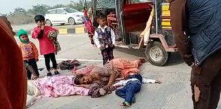 Accident in Fatehabad