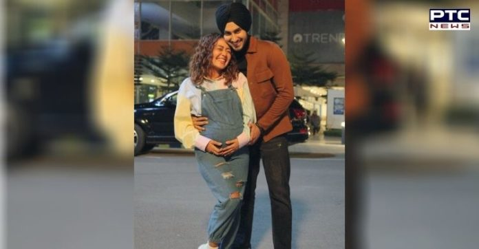 Neha Kakkar shows off pregnant belly in photo with Rohanpreet Singh