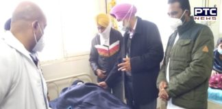 Balbir Singh Sidhu meet to injured farmers at Civil Hospitals Mohali