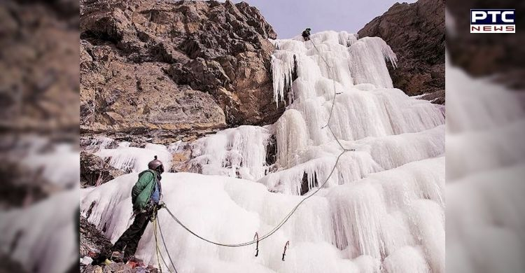Frozen waterfalls and water streams are attracting adventure enthusiasts to the Lahaul-Spiti valley of Himachal Pradesh.