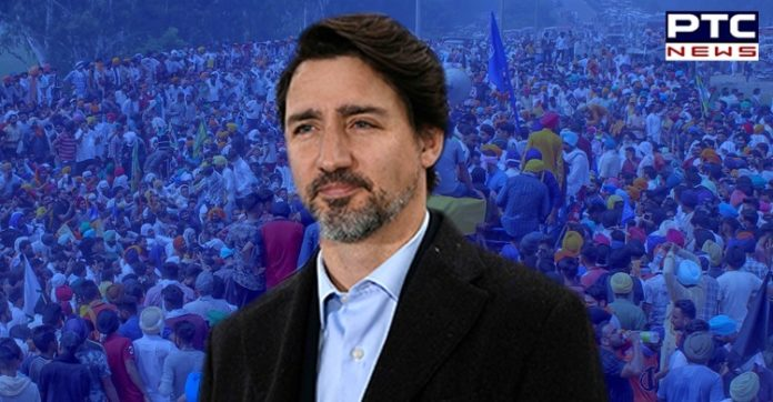 Canadian PM Justin Trudeau extends support to farmers' protest