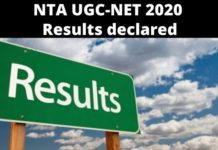 NTA UGC-NET 2020 Results declared; here are subject-wise cutoff marks