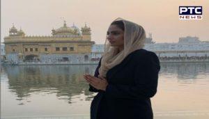Neeru Bajwa And Japji Khaira at Golden Temple, Amritsar
