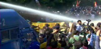 Protest Outside Haryana CM Residence