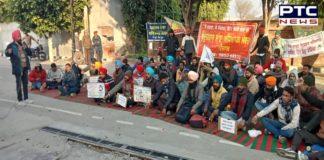 Unemployed Teacher Sanjha Morcha Protest Education Minister's residence in Sangrur